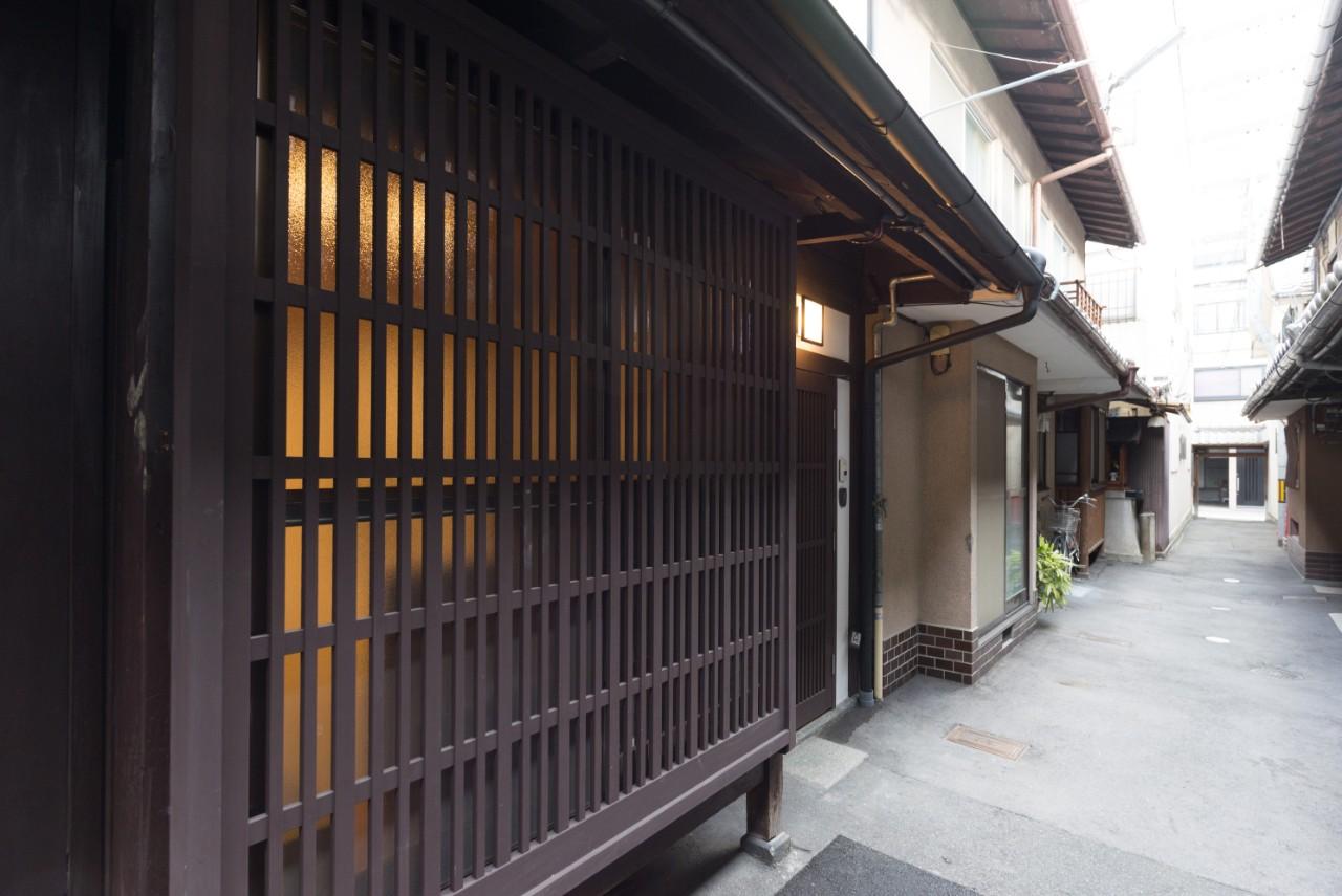 路地にある京町家